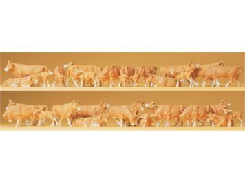 Preiser 14409 Kühe braun (30Stk.)