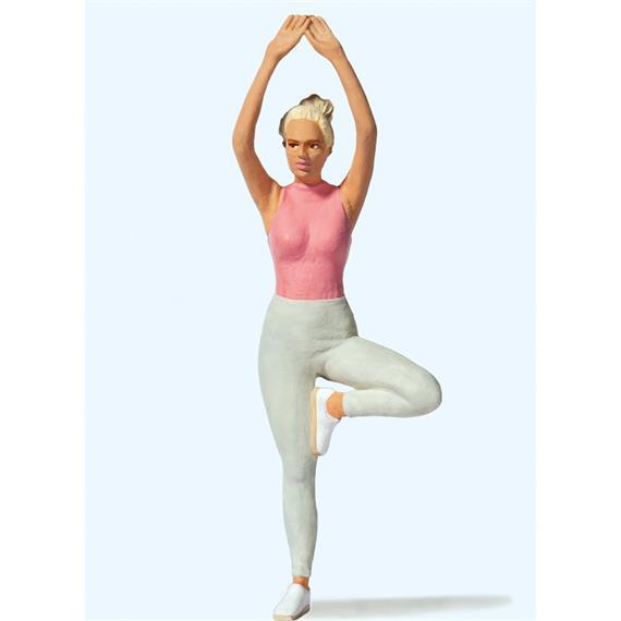 Preiser 45523 Junge Frau beim Yoga, Spur G 1:22,5