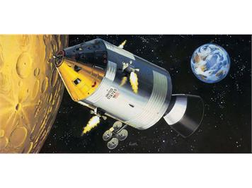 Revell 03703 Apollo 11 Spacecraft mit Interior (50 Y. Moon Landing) 1:32