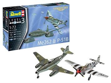 Revell 03711 Combat Set Messerschmitt Me262 & P-51B Mustang, 1:72
