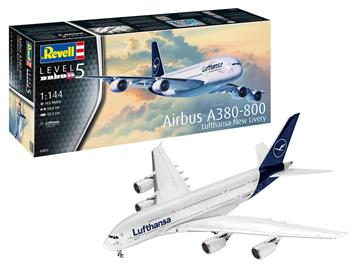 """Revell 03872 Airbus A380-800 Lufthansa """"New Livery"""", 1:144"""