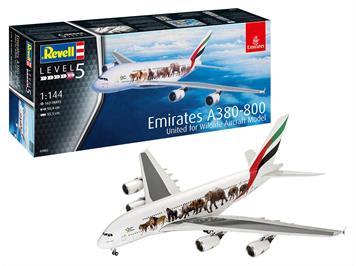 "Revell 03882 Airbus A380-800 Emirates ""Wild Life"", 1:144"