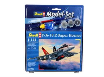 "Revell 63997 Model Set F/A-18E ""Super Hornet"" mit Farben, Pinsel und Leim 1:144"
