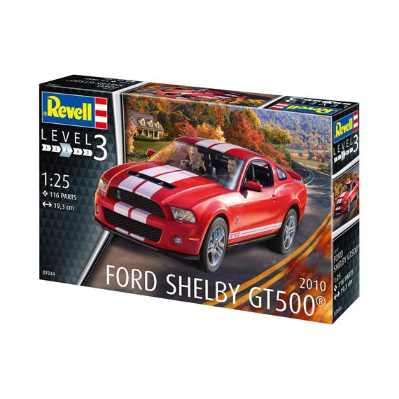 "Revell 67044 Model Set 2010 ""Ford Shelby GT500"" mit Pinsel, Farben und Leim 1:25"