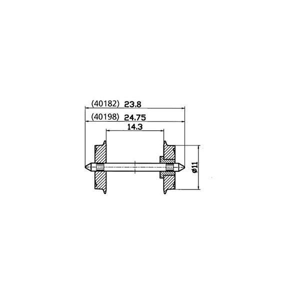 Roco 40198 Radsatz 11mm (Inhalt: 2 Stk.)