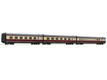 """Roco 74080 3-tlg. Set: Ergänzungswagen """"Alpen-See-Express"""", DB, AC Wechselstrom"""