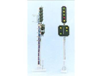 SBB 2208 Hauptsignal m. Vorsignal 9 LED 75mm