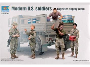 Trumpeter 00429 U.S. Logistics Supply Team / moderne US-Soldaten