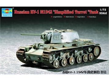 "Trumpeter 07234 Russian KV-1 M1942 ""Simplified Turret"" Tank"
