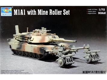 Trumpeter 07278 M1A1 with Mine Roller Set