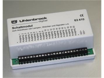 Uhlenbrock 63410 LN-Schaltmodul für Lampen, Weichen und Signale