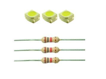 Viessmann 3556 LEDs mit Vorwiderstand weiss (3)