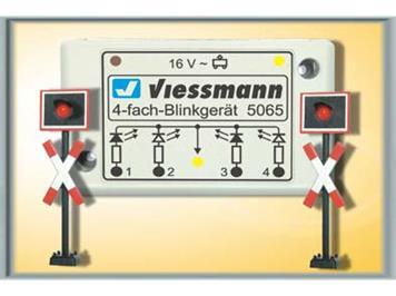 Viessmann Andreaskreuze 2 Stk. mit Blinkelektronik HO