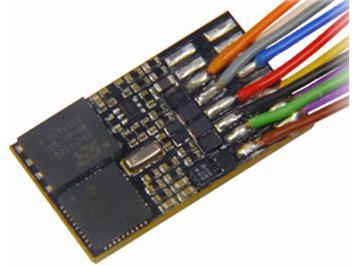 Zimo MX648 Subminiatur-Sound-Decoder, 0,9A, an 11 Litzen, 6 Funktionsausgänge