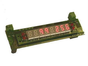 ZIMO MX9ZIAP 8-stellige Zugnummern-Ziffernanzeige Parallelbauform