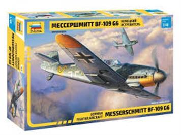 Zvezda 4816 Messerschmitt Me Bf 109 G-6 · mit Swiss Air Force Decals · Maßstab 1:48