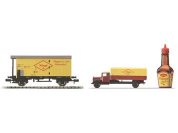 Arnold 6032 SBB Wagenset Maggi - Geschenkpackung N