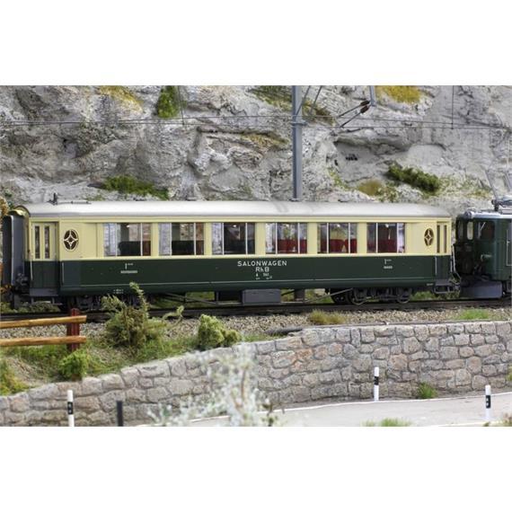 Bemo 3272 102 RhB A 1142 Salonwagen grün/beige