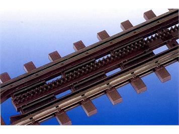 Bemo 4245 027 Ein- und Ausfahrt Zahnstangengleis, Länge 1000 mm, Bausatz, H0m (1:87)