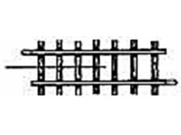 Bemo 4282 000 gerades Gleis HOm 56,5mm