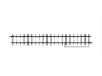 Bemo 4283 000 Anschlussgleis, H0m, 162,3 mm