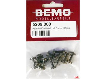 Bemo 5209 000 Scheibenradsatz, D = 8,6 isoliert (RS 3282 000 431), 10 Stück