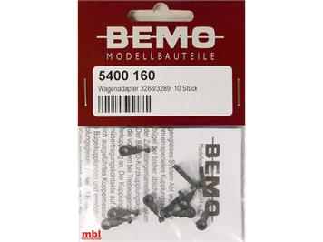 Bemo 5400 160 Kurzkupplung für 3288/3289 xxx - 10 Stück