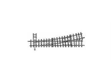 Bemo H0m 12° Weiche links gekürzt, 127mm