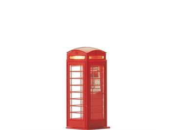 BRAWA 5437 englische Telefonzelle rot HO