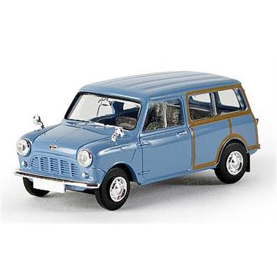 "Brekina Austin Mini Country TD ""Woody"" blau LHD HO"