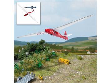 Busch 1154 Segelflugzeug, rot, H0