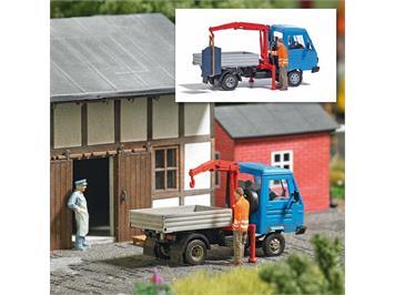 Busch 7906 Action Set: Fahrzeug mit Kran, H0