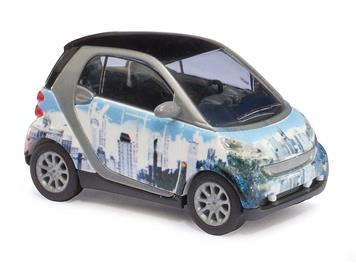 """Busch Smart Fortwo 07 Puzzle """"skyline"""" (BJ 2007) HO"""