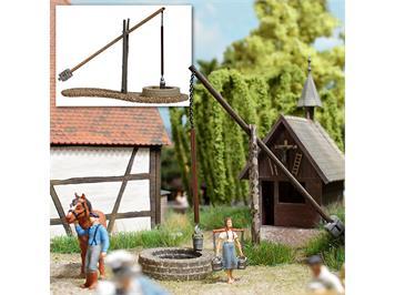 Busch Ziehbrunnen (echt Holz) HO