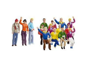 Carrera 20021128 Figurensatz Zuschauer 15 Personen (12 Sitzende / 3 Stehende) 1:32