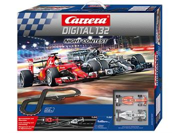 Carrera 30189 D132 Night Contest Ferrari SF 15 & Mercedes F1 W05, 7,3 Meter