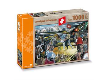 Carta.Media 7259 Puzzle Schwägalp-Schwinget, 1'000 Teile