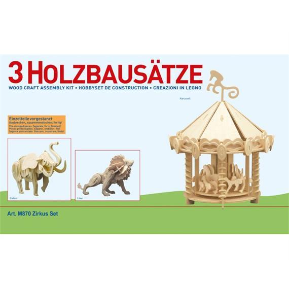 "DONAU M870 Holzbausatz ""3 x Zirkus"""