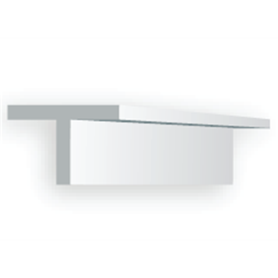 Evergreen 768 T-Profil, 35 mm lang, Höhe/Breite 6,5 mm, 2 Stück