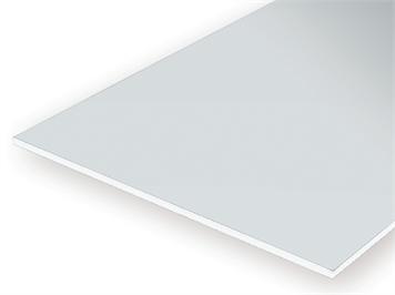 Evergreen 9020 Weiße Polystyrolplatte, 150x300x0,50 mm, 3 Stück