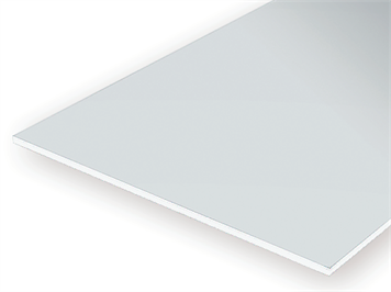 Evergreen 9030 Weiße Polystyrolplatte, 150x300x0,75 mm, 2 Stück