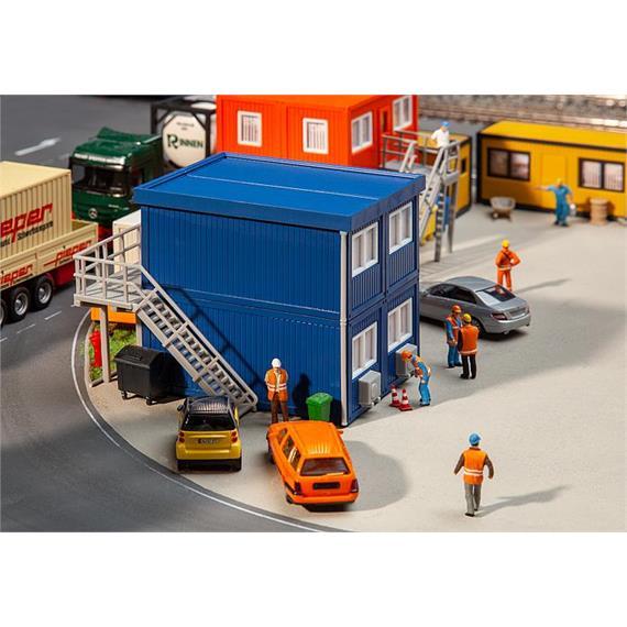 Faller 130134 Baucontainer blau (4) HO