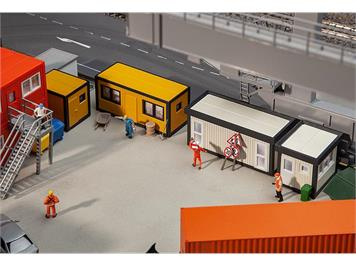 Faller 130136 Baucontainer gelb-schwarz (4) HO