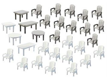 Faller 180439 Gartentische und Stühle HO