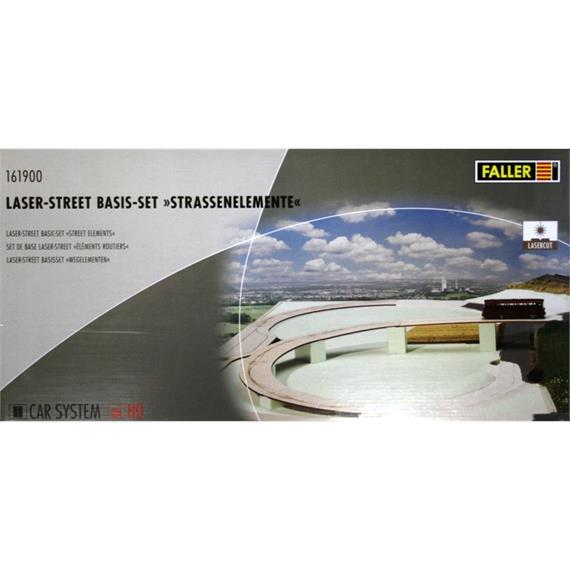 """Faller Car System 161900 Laser-Street Basis-Set """"Strassenelemente"""""""