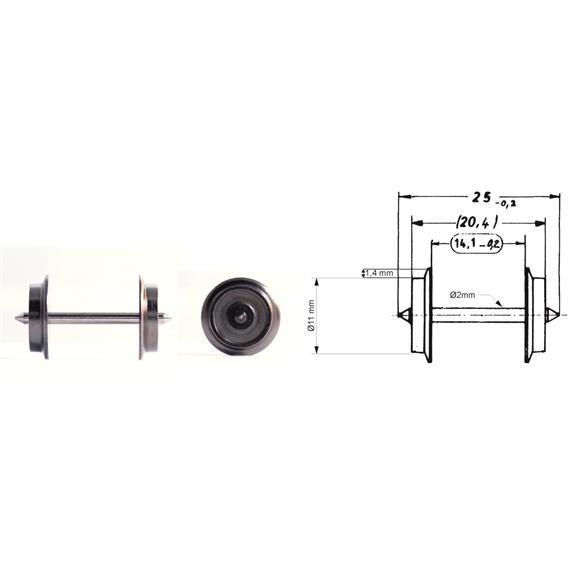 Fleischmann 6561 AC-Radsatz 25mm