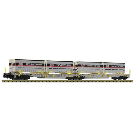 """Fleischmann 825011 Doppeltaschen-Gelenkwagen T2000 """"Terratrans"""" AAE N"""