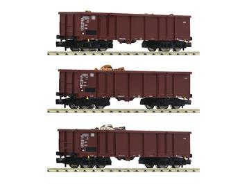 Fleischmann 828345 Offener Güterwagen Set 3teilig N