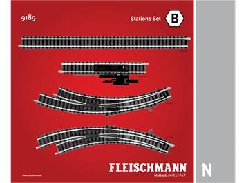 Fleischmann 9189 Station-Set B, N