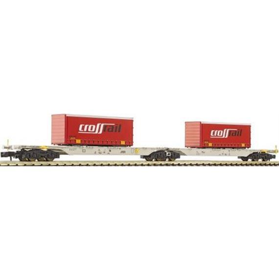 "Fleischmann Containertragwagen Sggars ""CrossRail"""